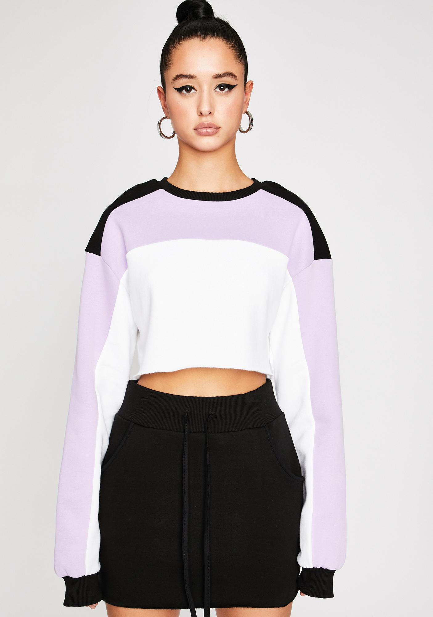 Poster Grl High Profile Colorblock Sweatshirt