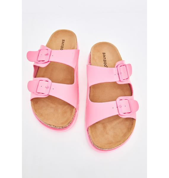 Pretty Beach Bish Buckle Sandals