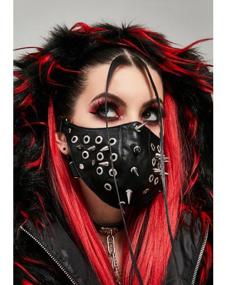 Sinister Siren Vegan Leather Face Mask