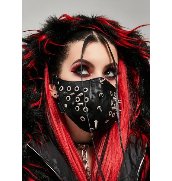 Widow Sinister Siren Vegan Leather Face Mask