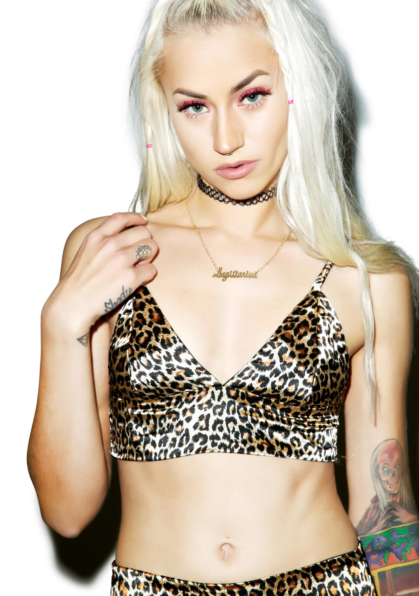 O Mighty Leopard Silk Kitten Bralette