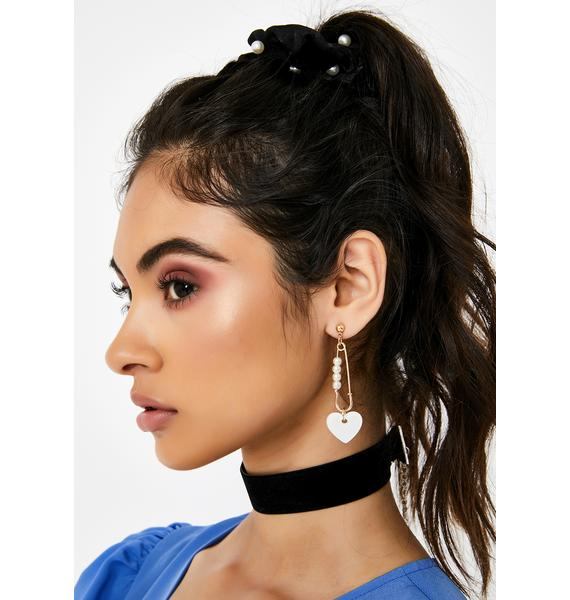 Safety First Heart Earrings