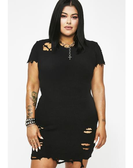 Vicious Pack Leader Distressed Dress