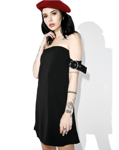 Black Heart Off-Shoulder Dress