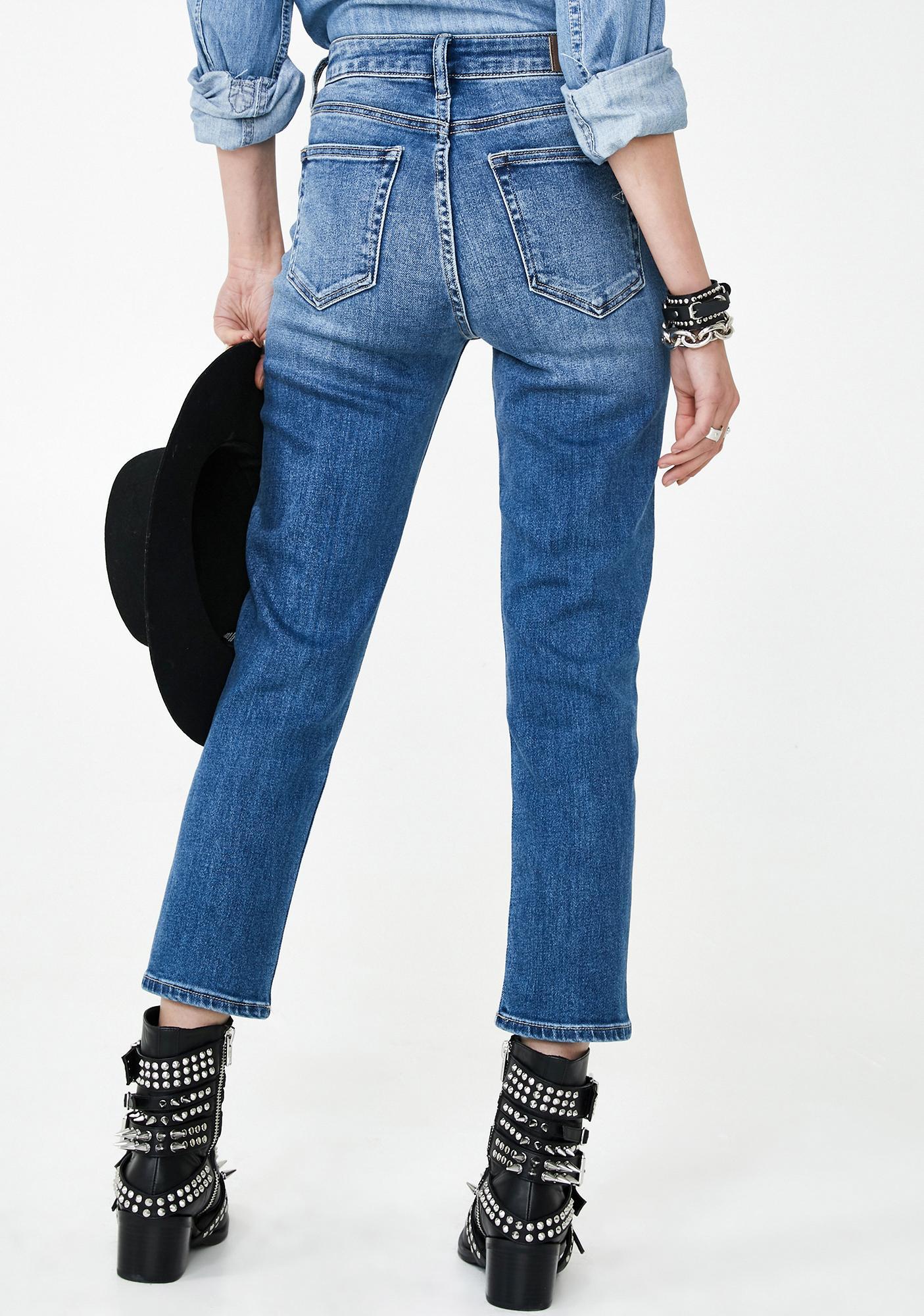 Hidden Denim Tracey Medium Wash Mom Jeans