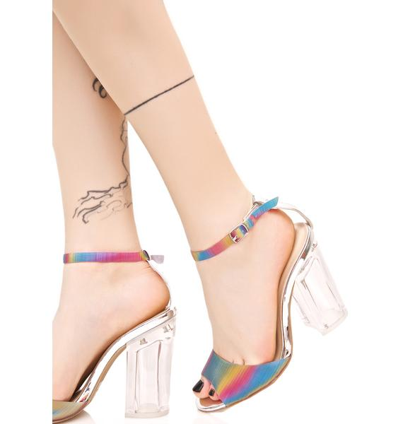 Chasing Rainbows Heeled Sandal