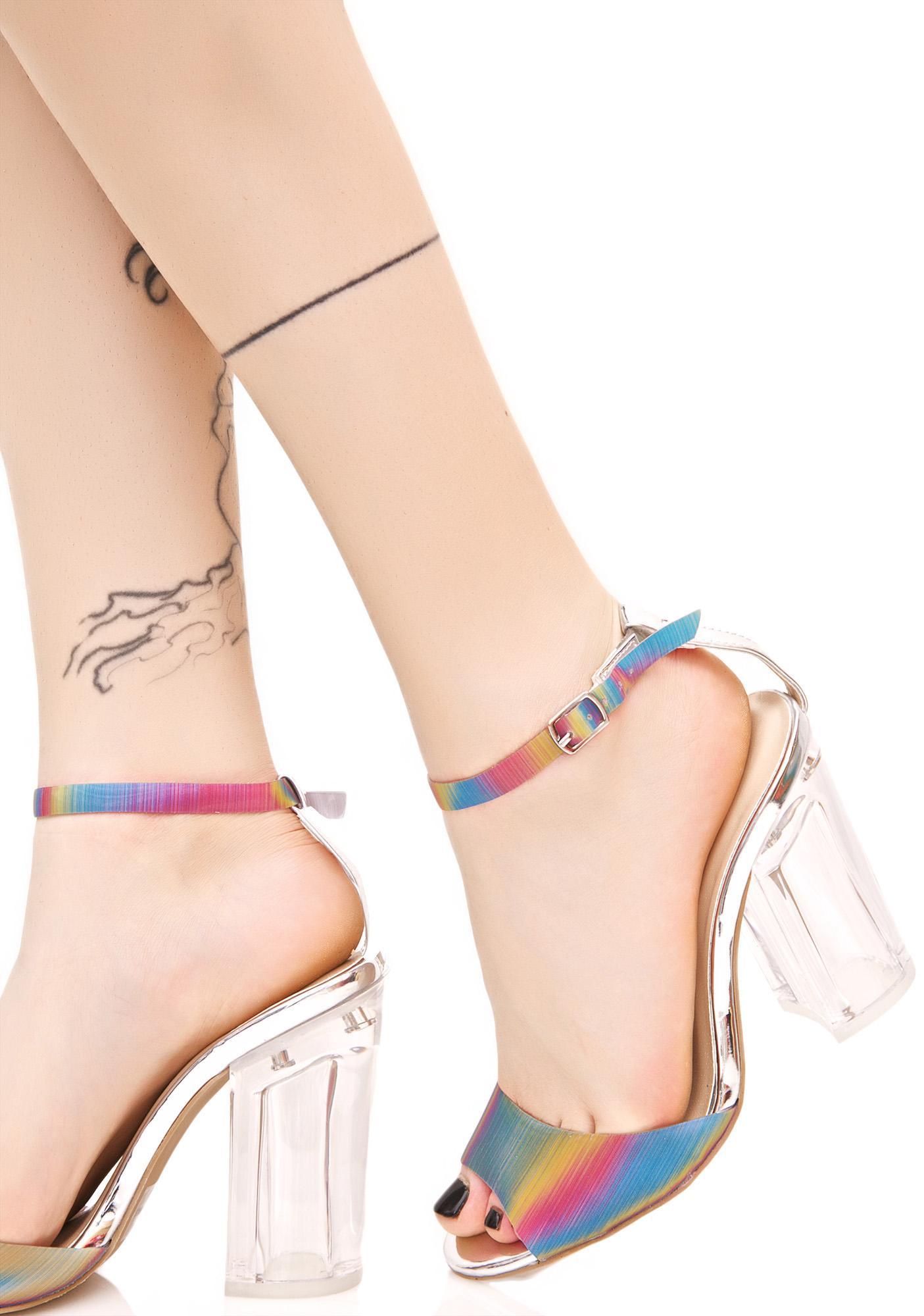 Chasing Rainbows Heeled Sandal