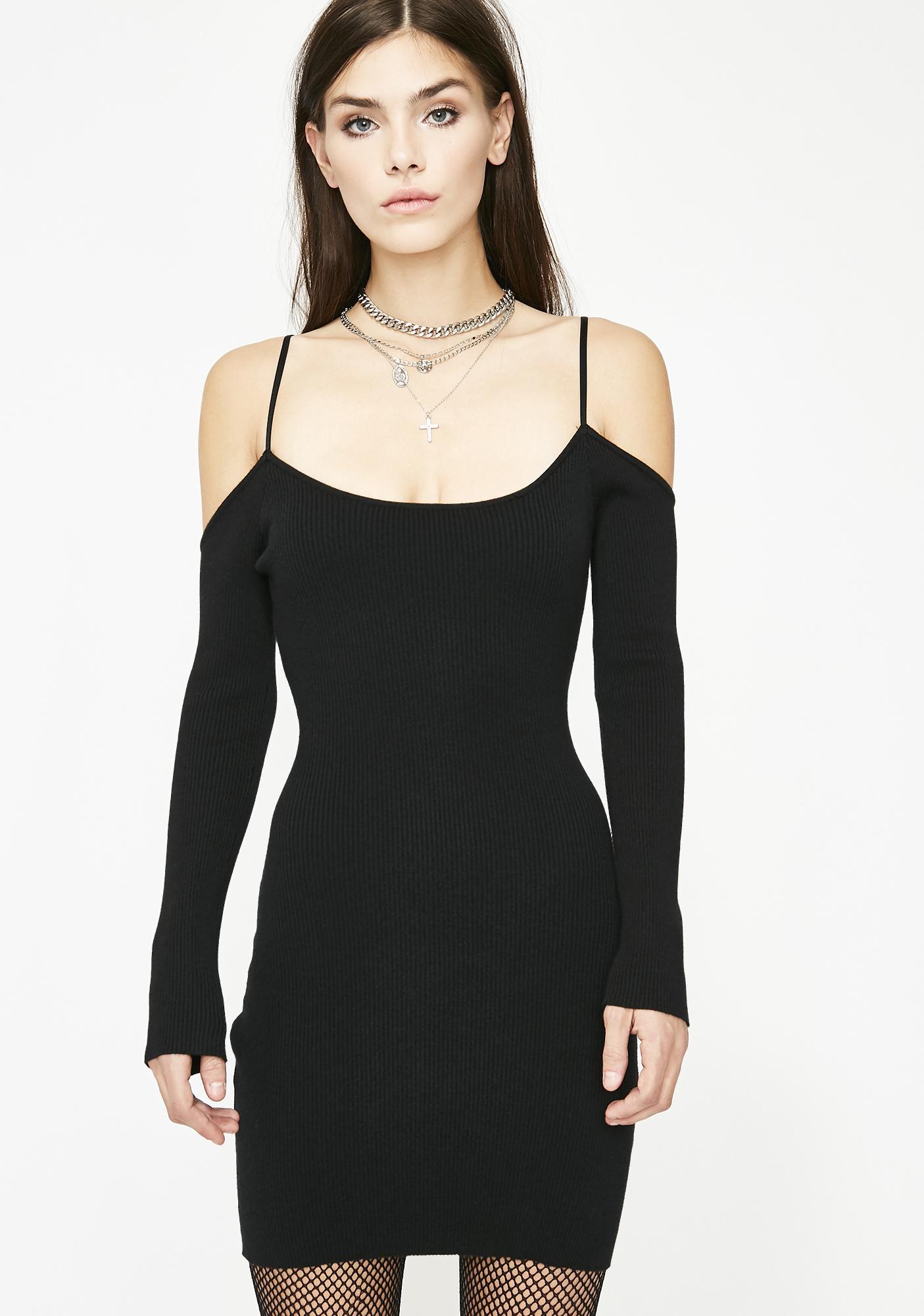 Heart Racing Knit Sweater Dress