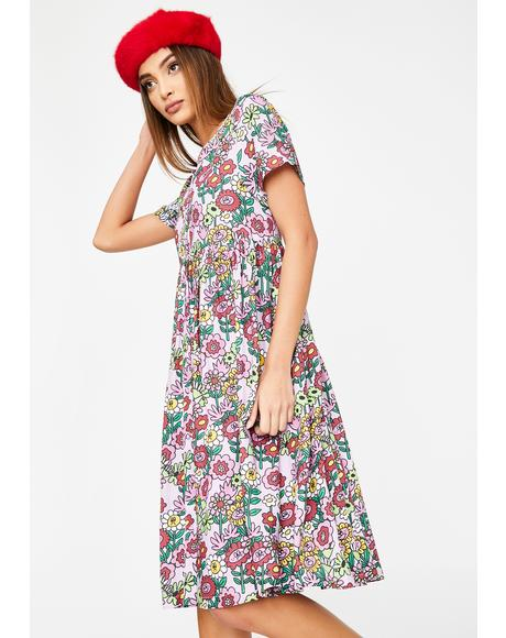 Mixed Bunch Flower Dress