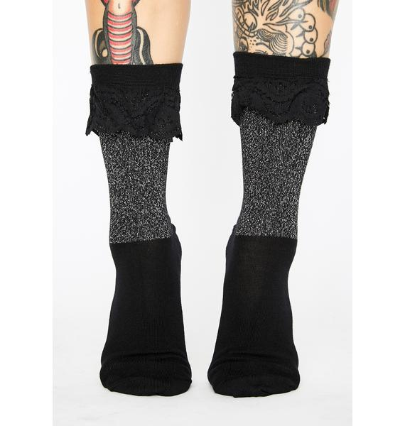 Dr. Martens Short Lace Metallic Socks