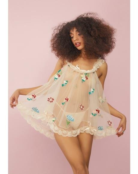 Enchanted Meadow Floral Nightie Set