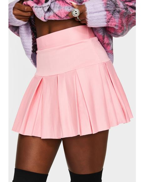 Sweet Wicked Scholar Pleated Mini Skirt