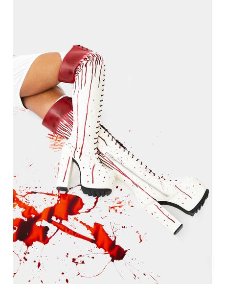 Total Bloodbath Thigh High Boots