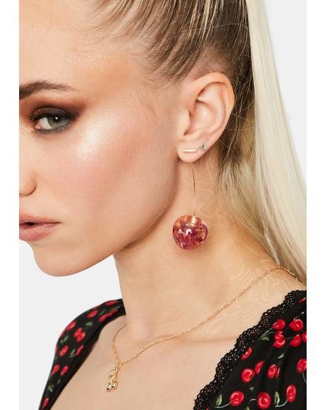 Delicate Cherry Earrings