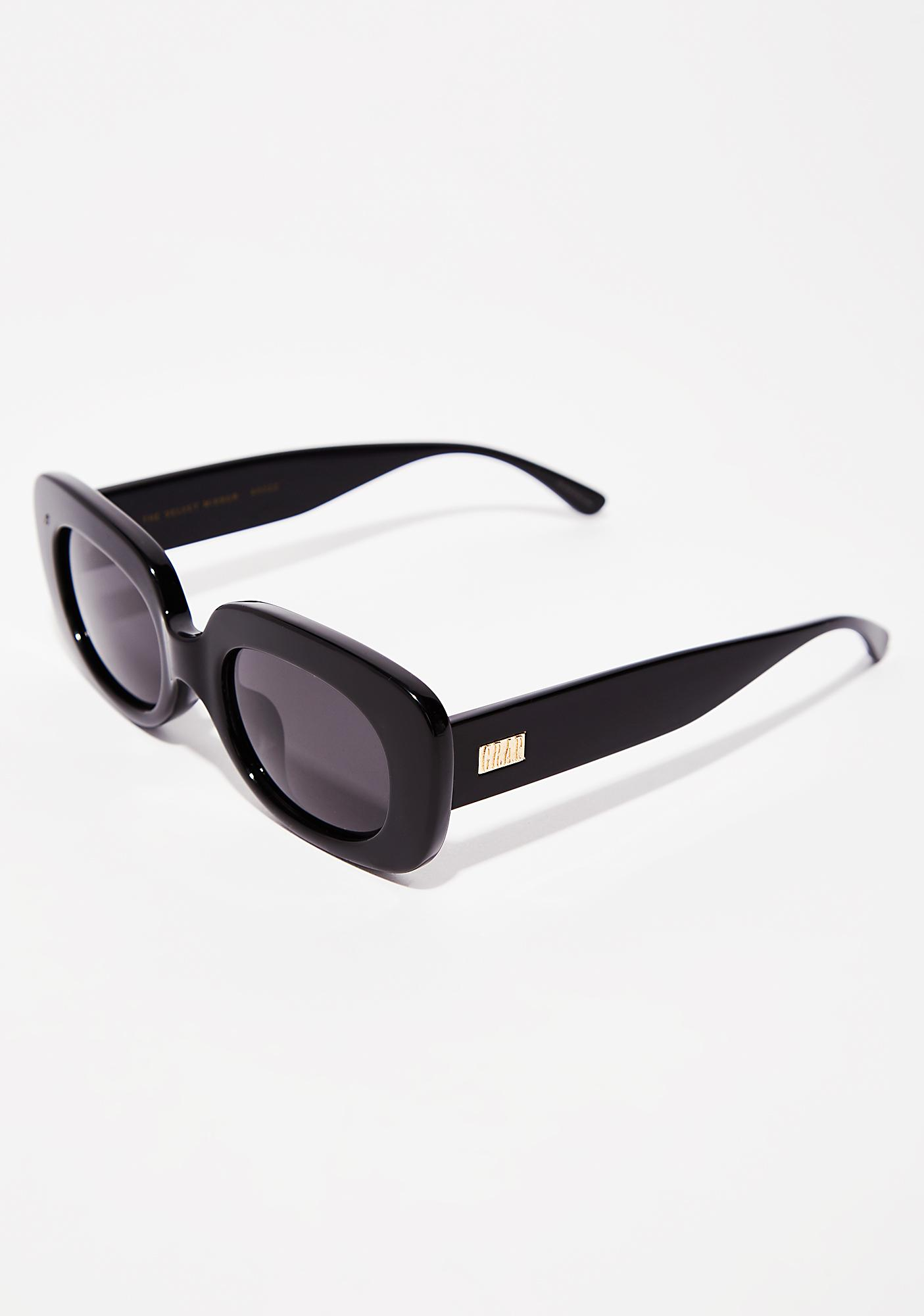 Crap Eyewear Onyx The Velvet Mirror Sunglasses