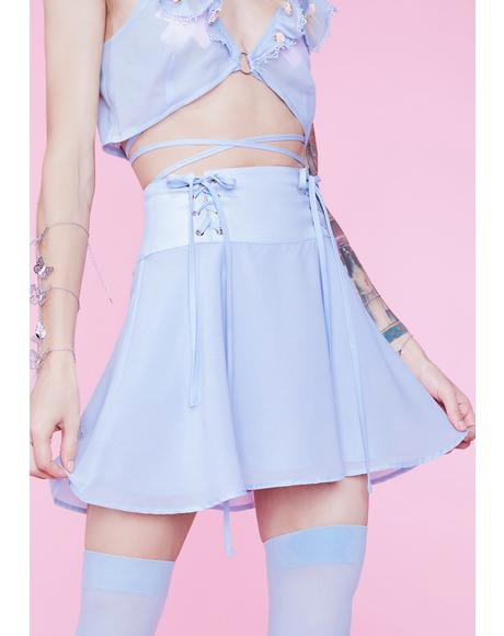 Baby Eve's Garden Lace-Up Satin Skirt