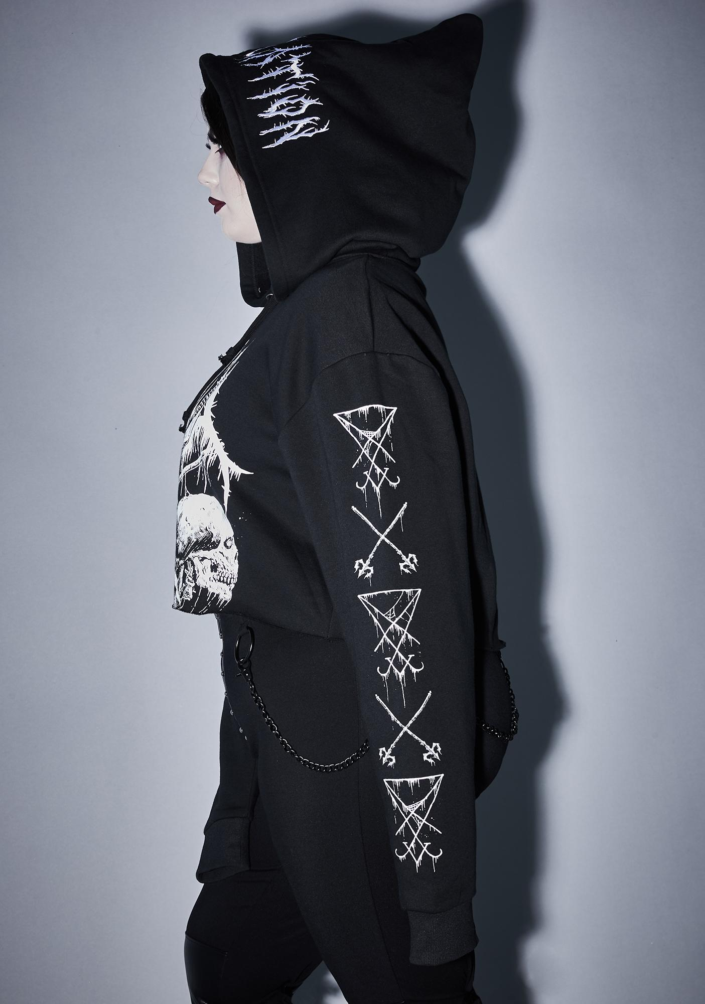 Widow Infinite Total Annihilation Cropped Hoodie