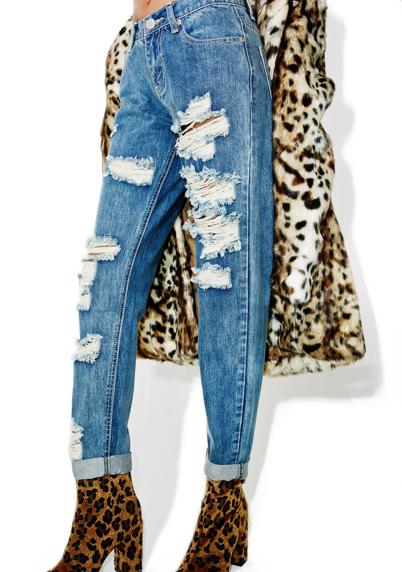 Glamorous Metropolis Distressed Jeans