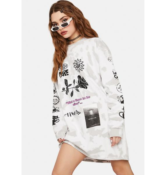 NEW GIRL ORDER Time To Be Alive Sweatshirt Dress
