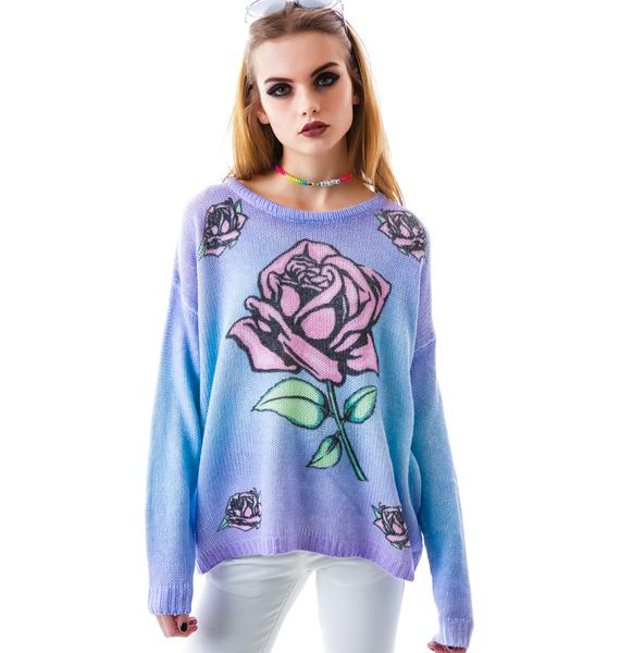 Mink Pink Dreaming Rose Jumper