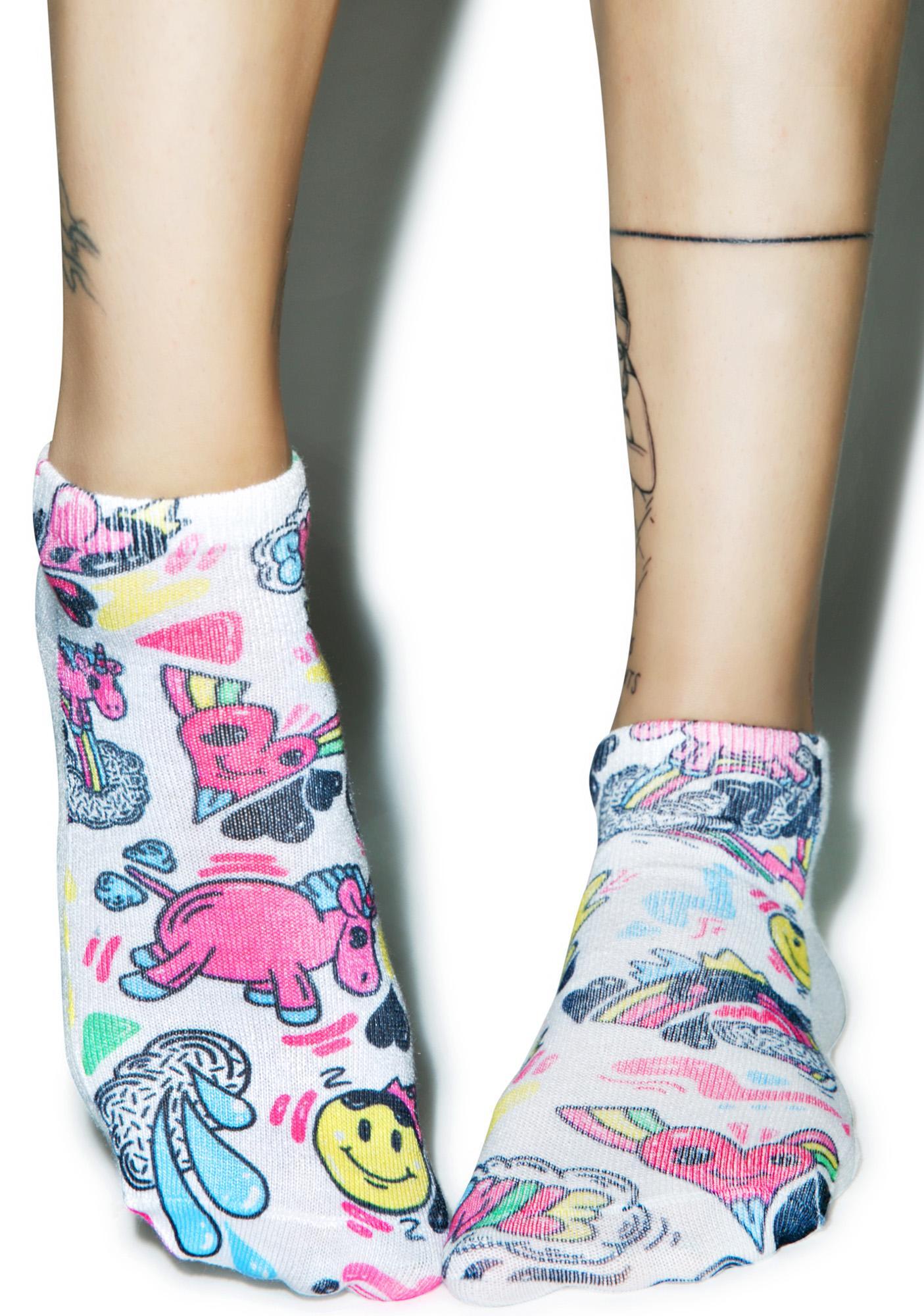 Cartoon Trip Ankle Socks