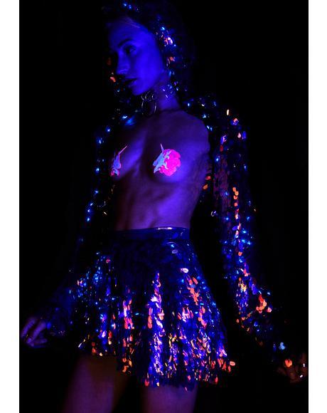 Cosmic Ice Light Up Sequin Skirt
