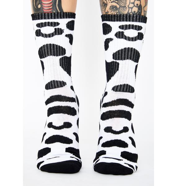 Daily Moo'd Crew Socks