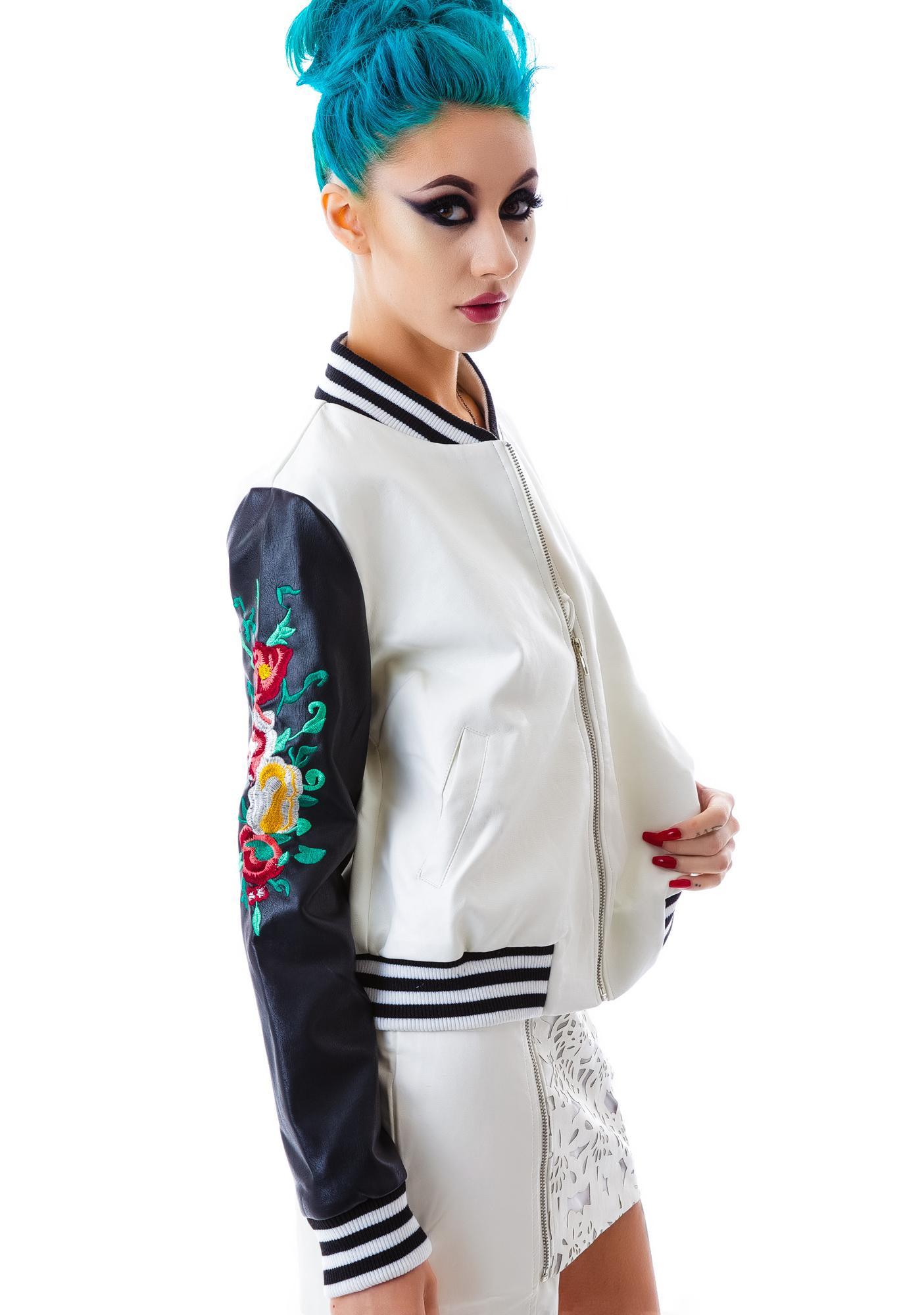 Rose Dynasty Veggie Leather Jacket