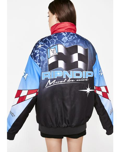 Nascar Nerm Puffy Racing Jacket