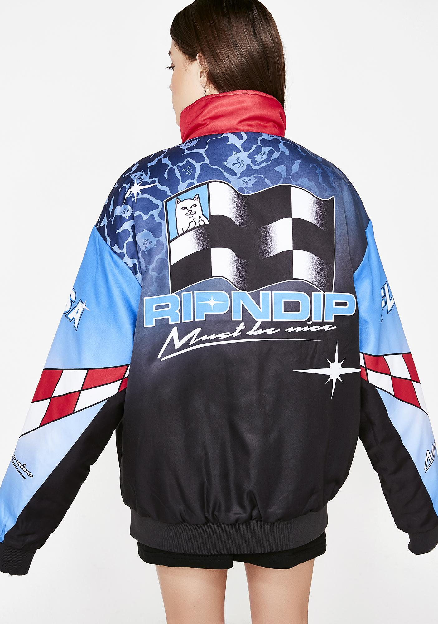 fe8ed946f374 RIPNDIP Nascar Nerm Puffy Racing Jacket | Dolls Kill