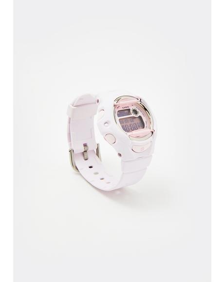White Baby G Digital Watch