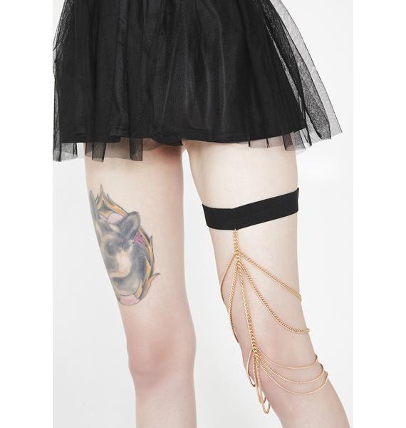 Gilded Embrace Leg Chain