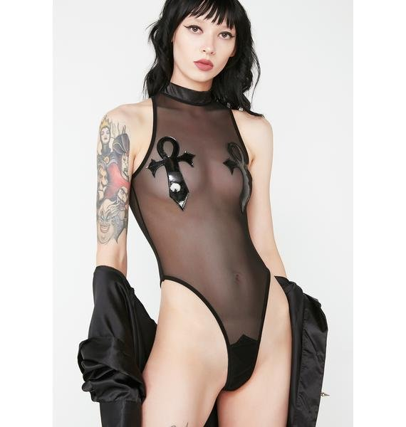 Widow Ankh Fishnet Bodysuit