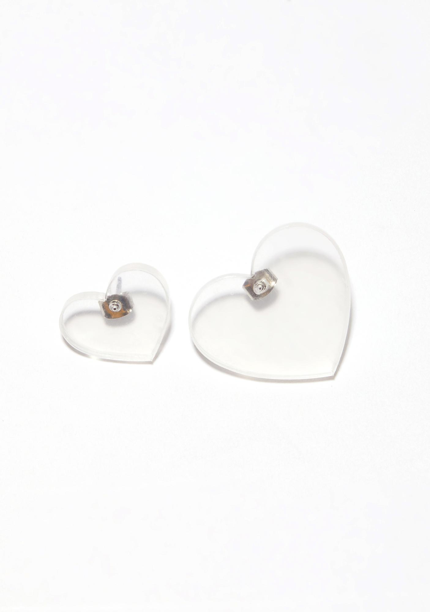 E.M. leg stud earrings - Metallic RNnnu