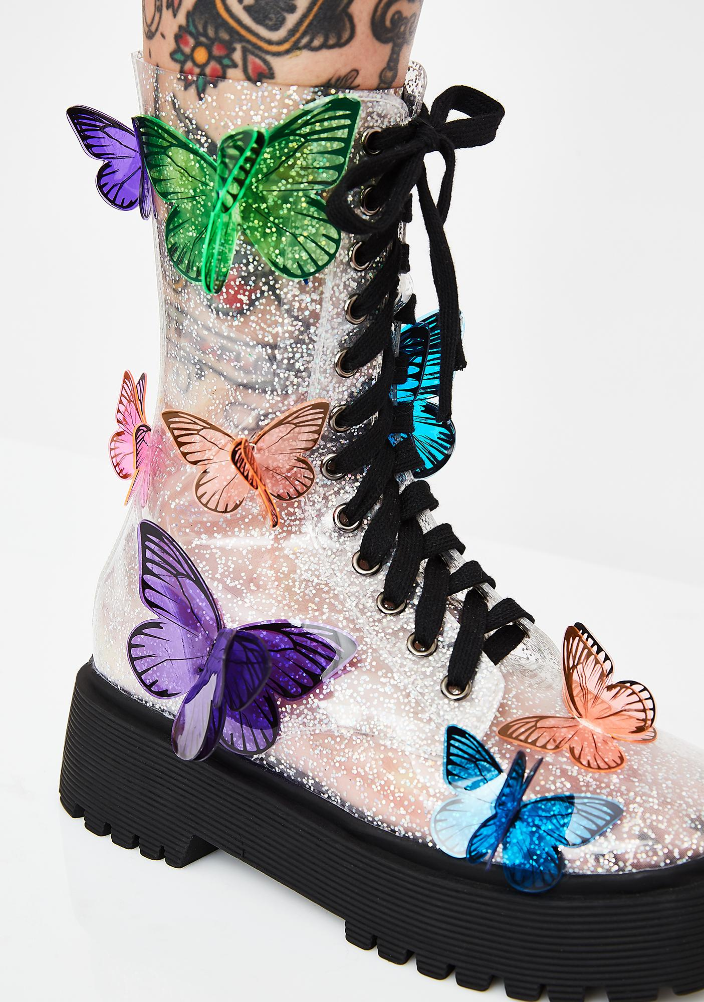 Club Exx Terrarium Butterfly Boots
