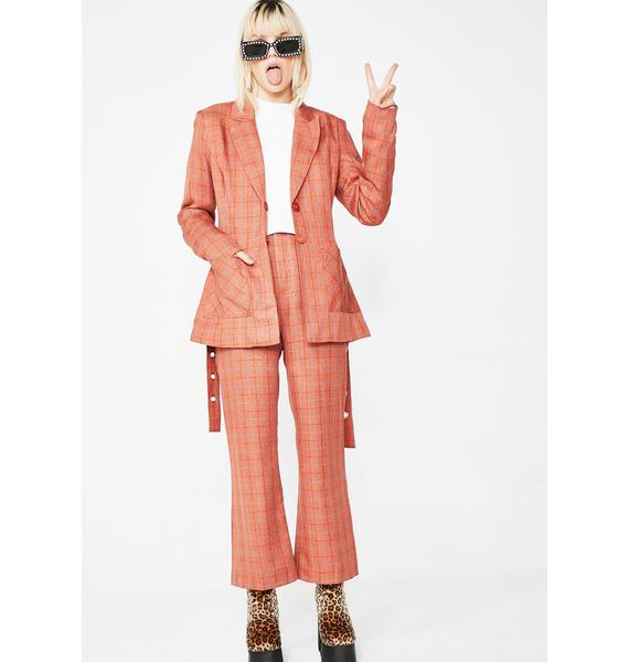 Honey Punch Dirty Business Plaid Pants