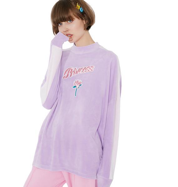 Lazy Oaf Princess Velour Sweatshirt