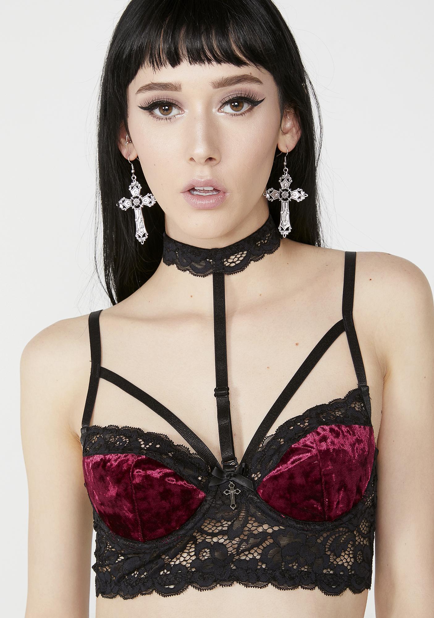 Killstar Ruby Boudoir Bra