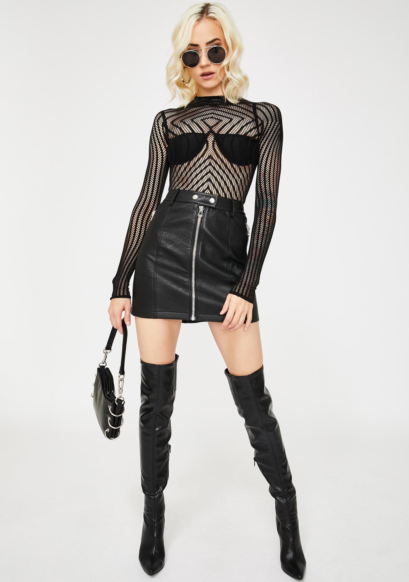 Got U Hypnotized Sheer Bodysuit
