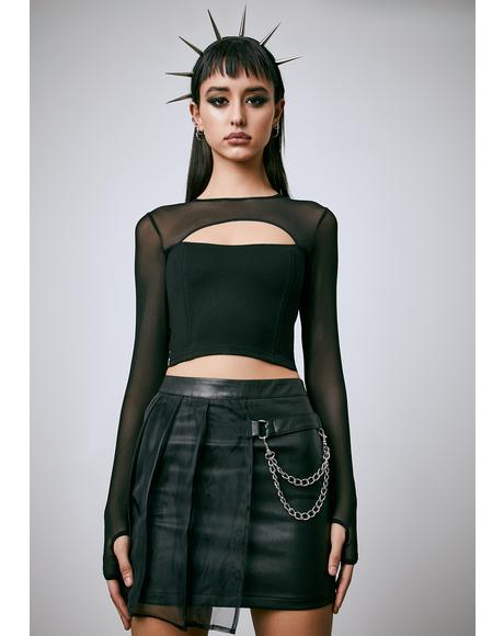 Hell's Blackout Pleated Skirt