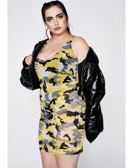 Climb The Ranks Camo Dress