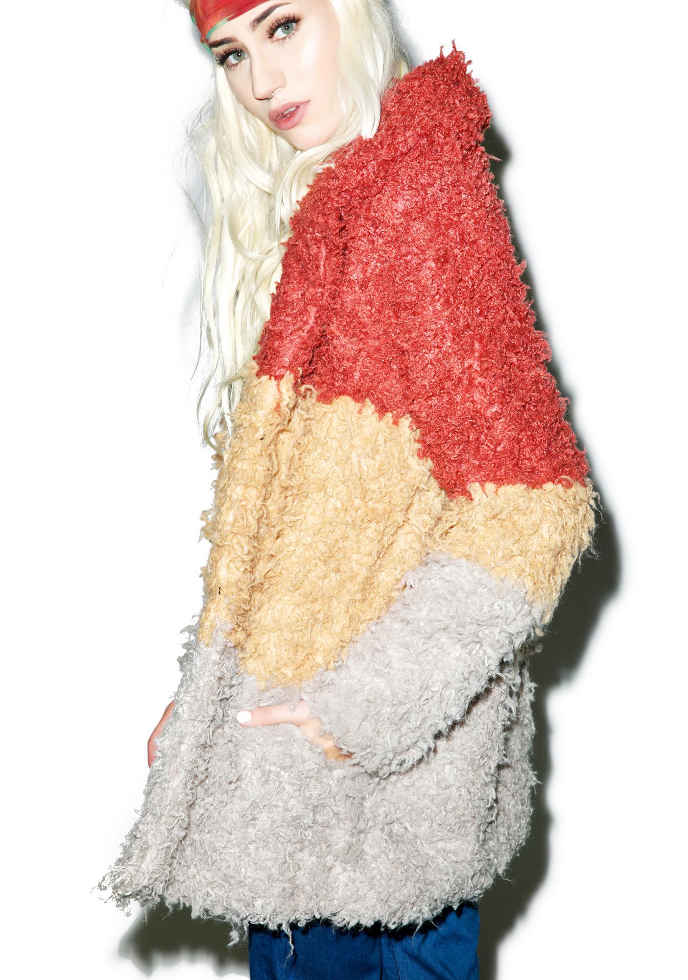 Mink Pink Free Spirit Shaggy Coat
