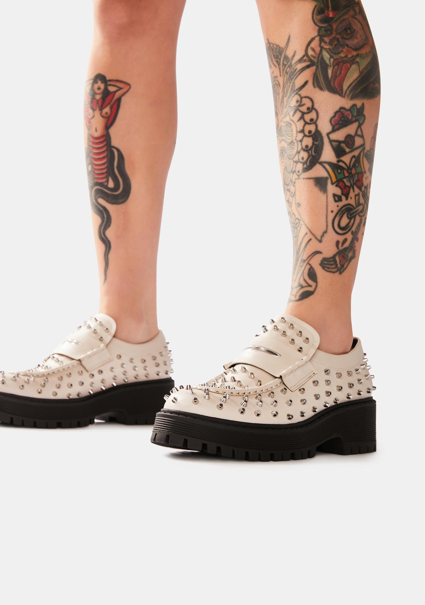 Steve Madden Bone Malvern Studded Loafers
