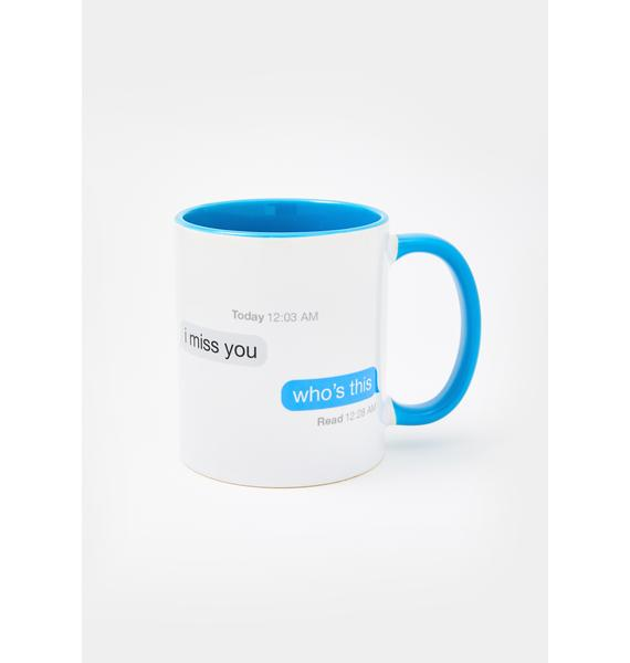 Femfetti I Miss You Text Coffee Mug
