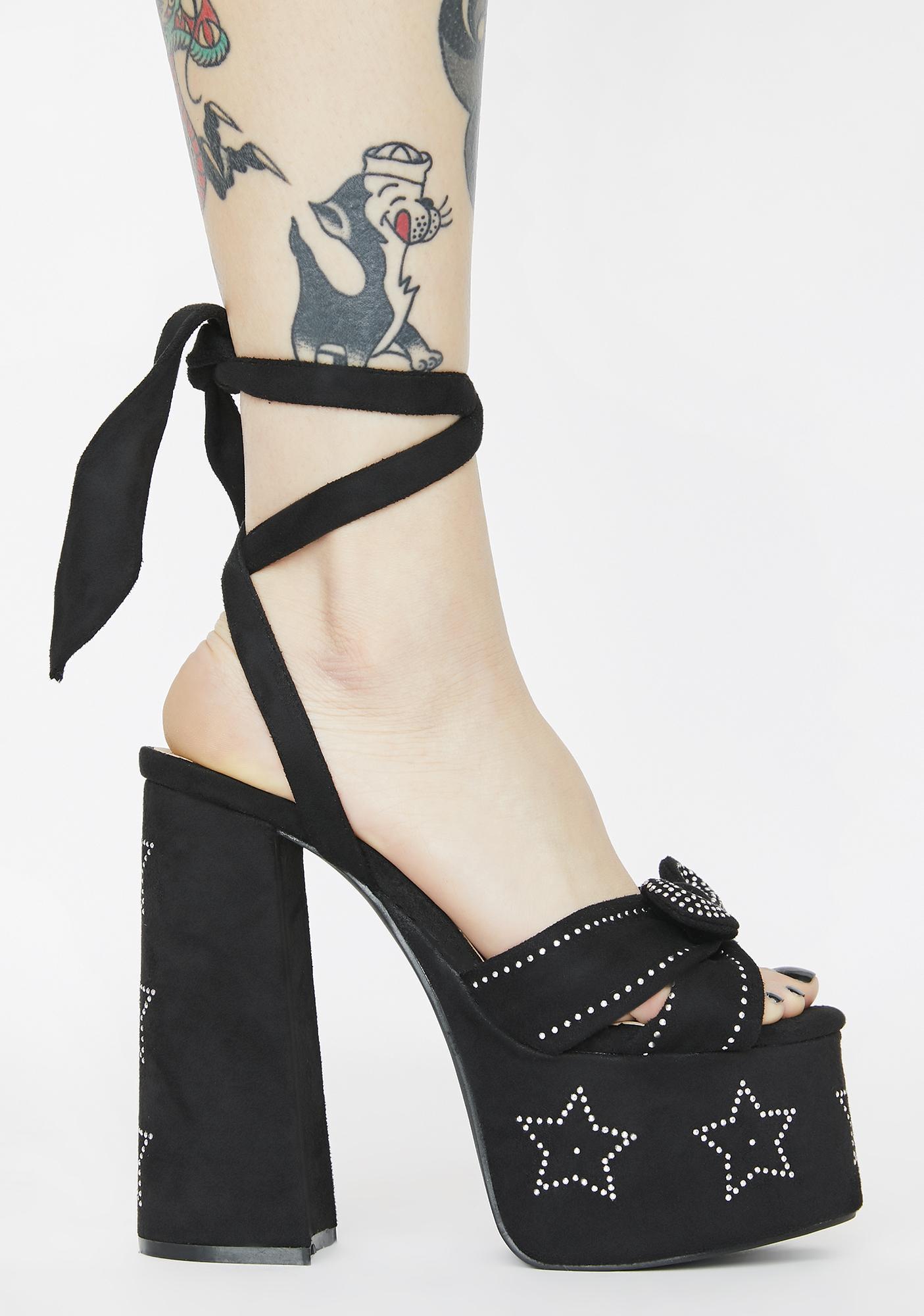 Walk Of Fame Platform Heels