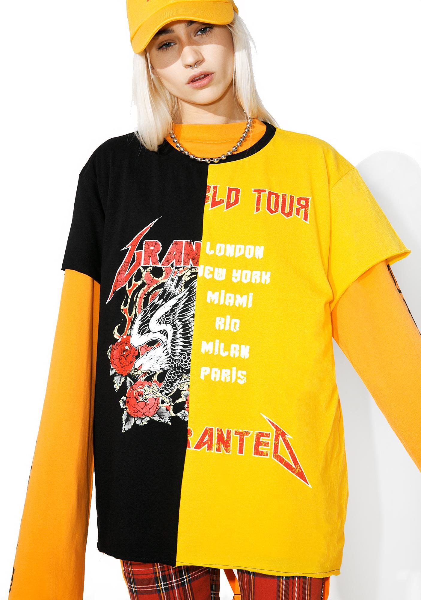Jaded x Granted Tour Merch Split Graphic Tee