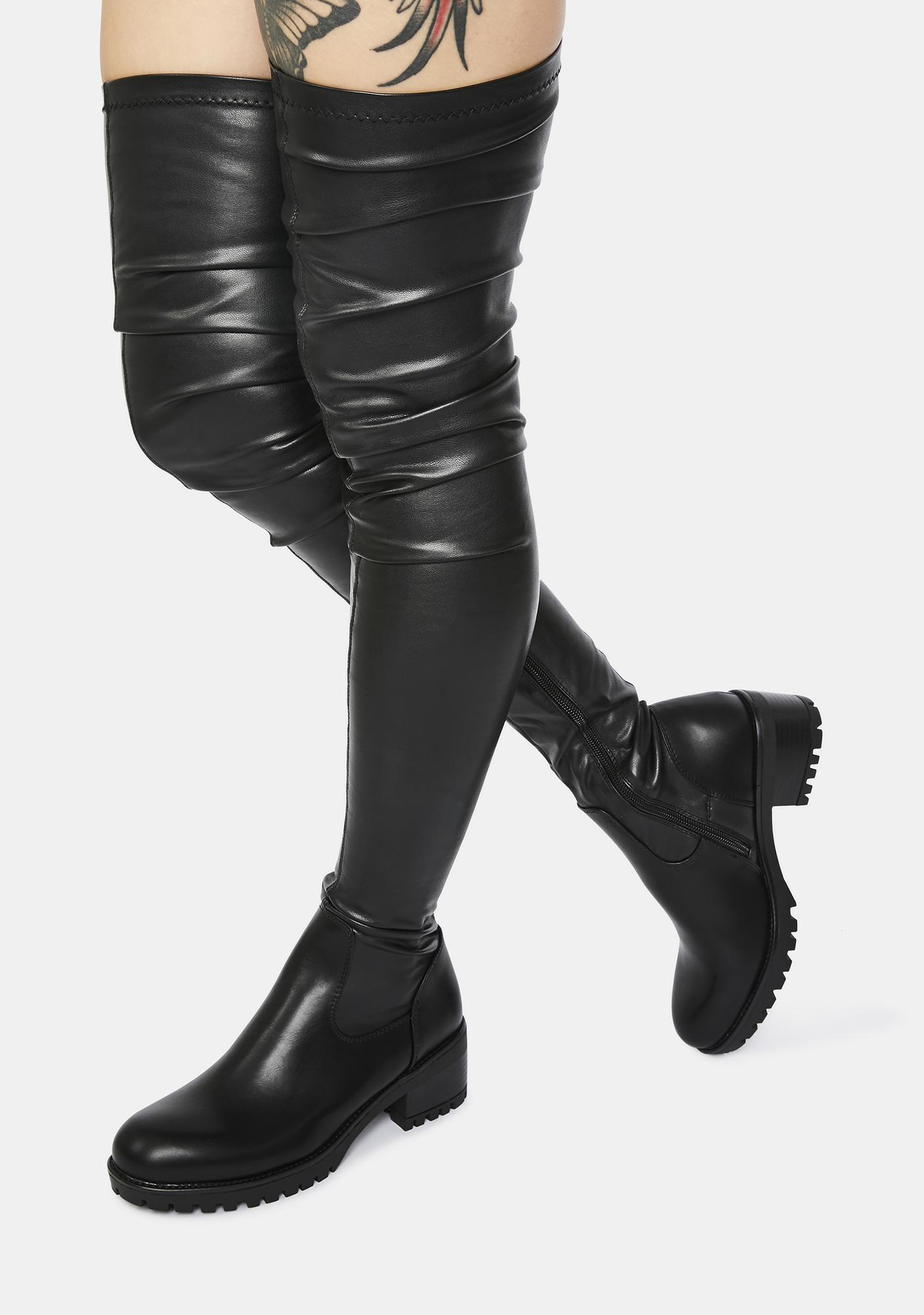 AZALEA WANG Surgical Slim Fit Thigh High Boots