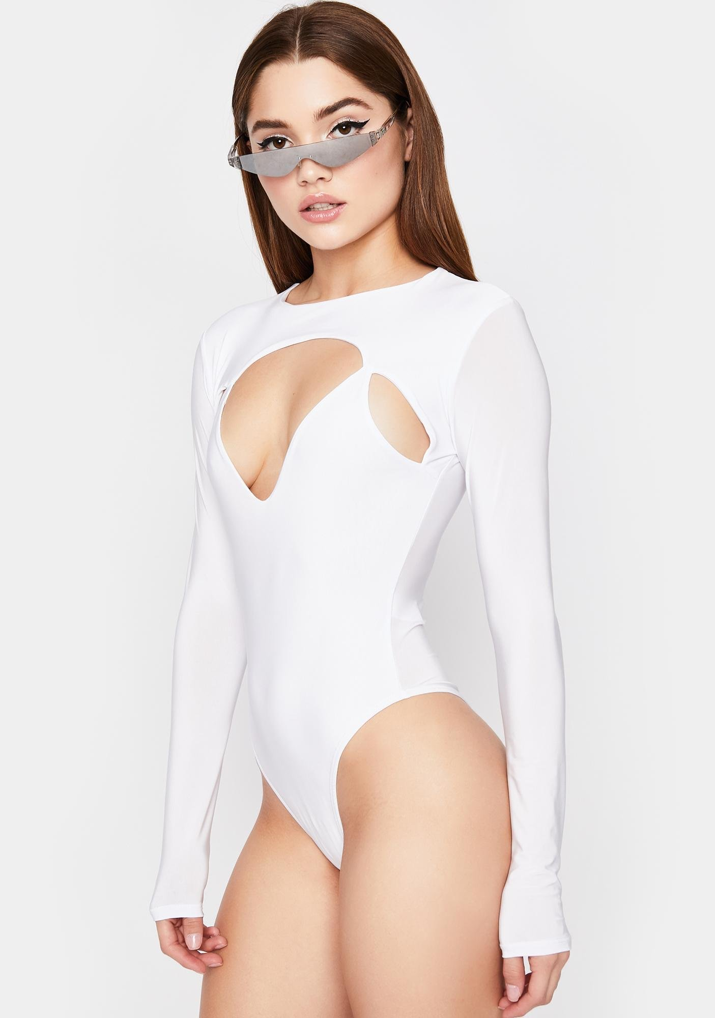 Icy Real Bad Feeling Cut Out Bodysuit