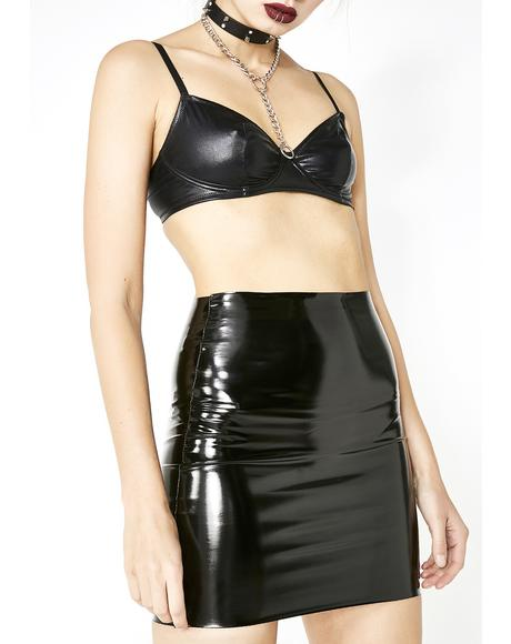 Sinful Princess Kink Vinyl Skirt