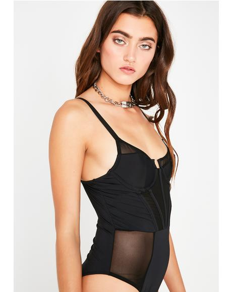 Through The Wire Sheer Bodysuit